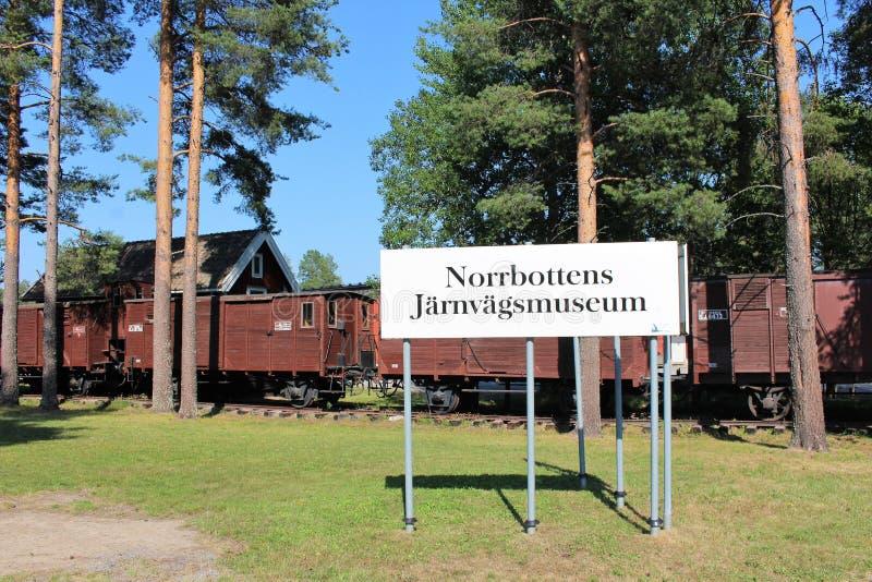 Museo ferroviario di Norrbotten nel ?? del ?Â? del ? di Lule??'? immagine stock