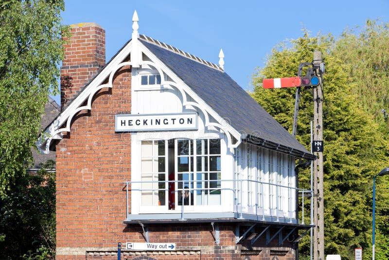 museo ferroviario e stazione ferroviaria, Heckington, East Midlands, E fotografia stock