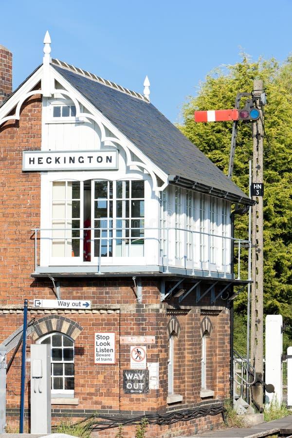 museo ferroviario e stazione ferroviaria, Heckington, East Midlands, E immagine stock