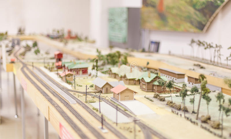 Museo ferroviario lettone di storia immagini stock