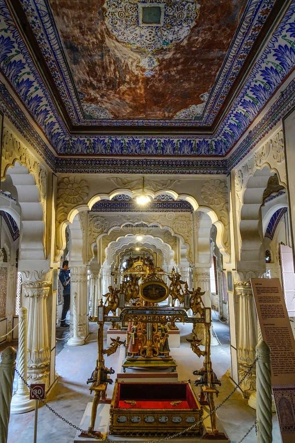 Museo forte di Mehrangarh a Jodhpur, India fotografie stock libere da diritti