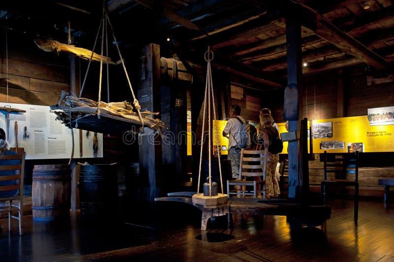 Museo hanseático en Bergen, Noruega fotos de archivo