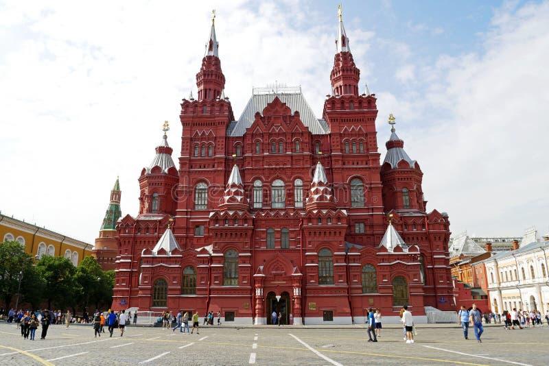 Museo histórico del estado en la Plaza Roja en Moscú, Rusia imágenes de archivo libres de regalías