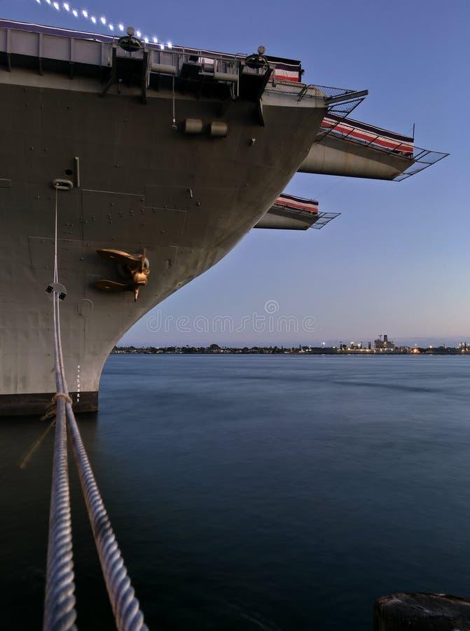 Museo intermediario de portaaviones de USS en San Diego céntrico foto de archivo