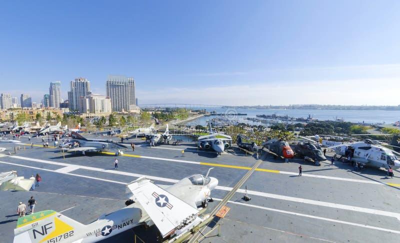 Museo intermediario de USS, San Diego fotos de archivo