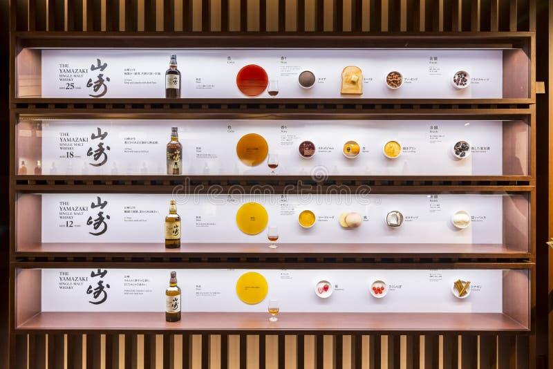 Museo Japón del whisky de Suntory Yamazaki del envejecimiento foto de archivo