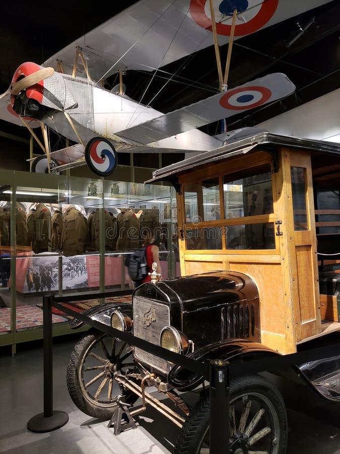 Museo Kansas City interior los E.E.U.U. de la Primera Guerra Mundial fotos de archivo