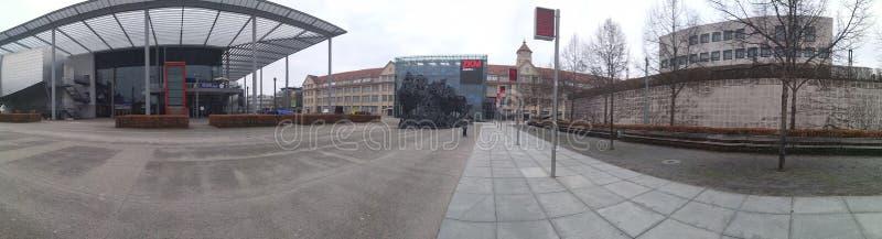 Museo Karlsruhe, Germania di panorama ZKM fotografia stock libera da diritti