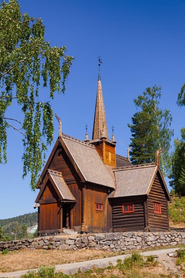 Museo Lillehammer Oppland de la gente de Maihaugen de la iglesia del bastón de Garmo no fotos de archivo libres de regalías