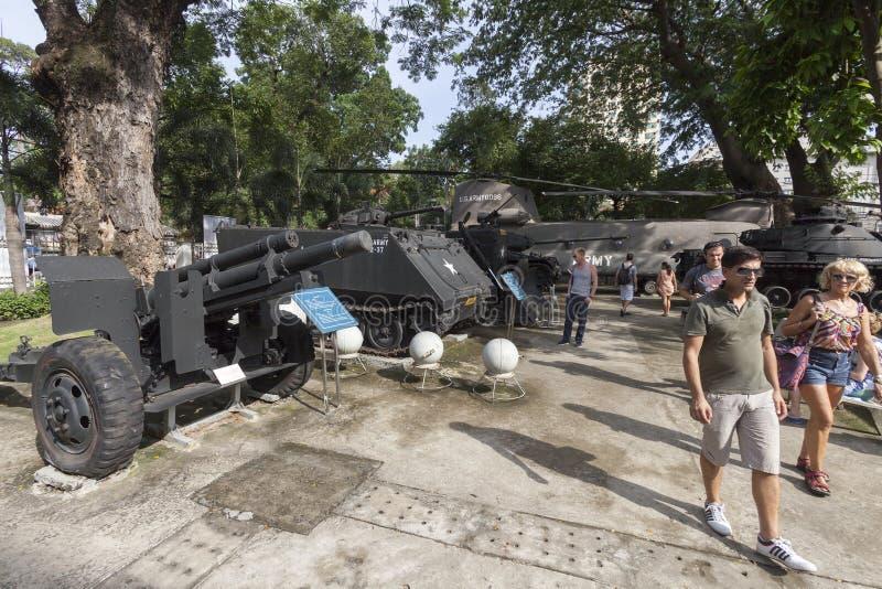 Museo los remanente de la guerra en Ho Chi Minh, Vietnam imagen de archivo libre de regalías