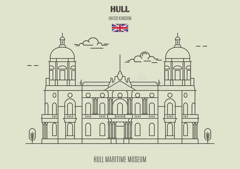 Museo marítimo del casco en Kingston sobre el casco, Reino Unido Icono de la señal libre illustration