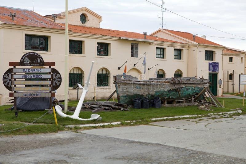 Maritime, Prison and Antarctic Museum in Ushuaia, Argentina. Museo Maritimo y del Presidio de Ushuaia, Argentina. Maritime, Prison and Antarctic Museum is stock images