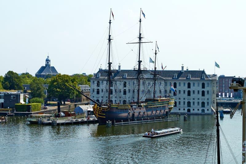Museo marittimo nazionale a Amsterdam fotografia stock