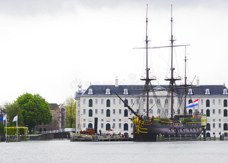 Museo marittimo nazionale a Amsterdam, Paesi Bassi immagini stock