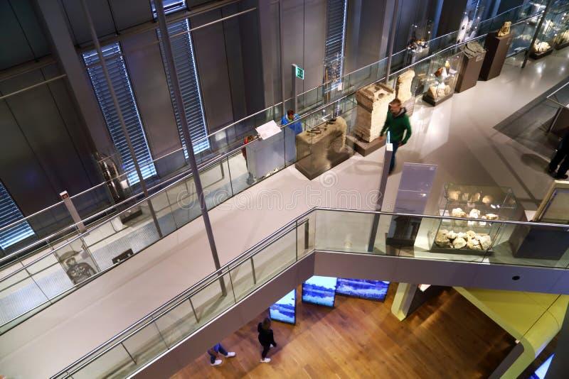 Museo moderno para las antigüedades romanas en Xanten Alemania fotografía de archivo libre de regalías