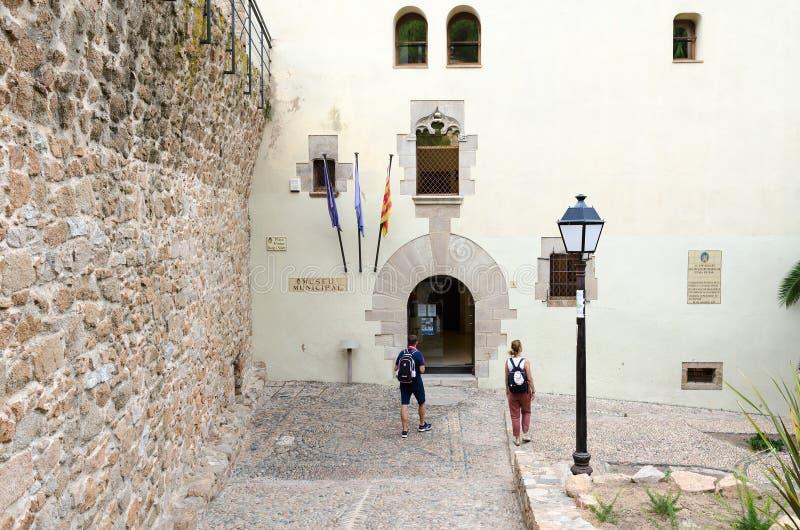 Museo municipal en Tossa de Mar, Costa Brava, España foto de archivo