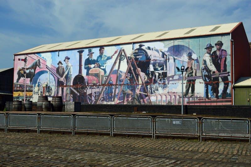 Museo mural de Manchester de la ciencia y de la industria imagen de archivo libre de regalías