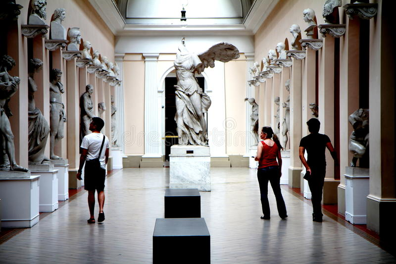 Museo Nacional de bellas arte en Rio de Janeiro fotografía de archivo