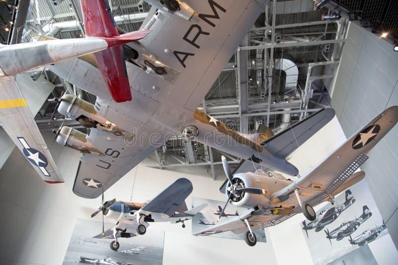 Museo nacional de WWII en el interior de New Orleans foto de archivo