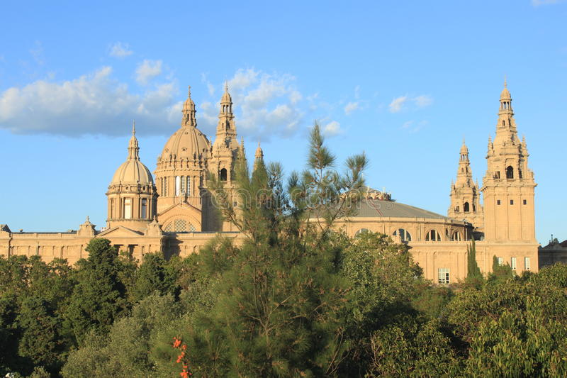 Museo Nacional en Barcelona foto de archivo libre de regalías