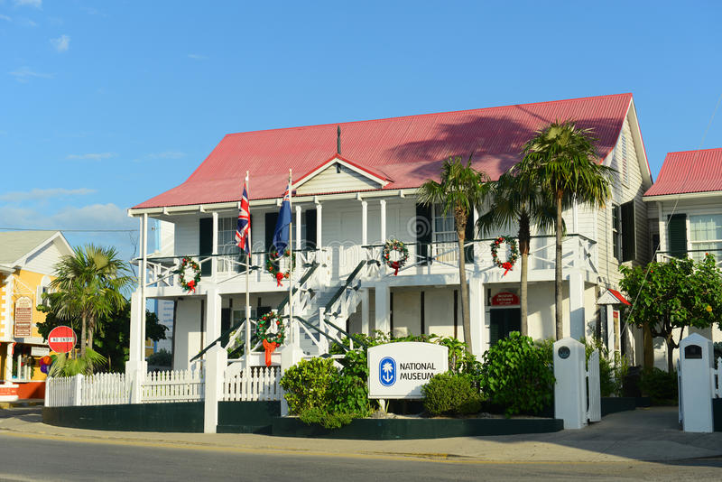 Museo Nacional en George Town, Islas Caimán imagen de archivo