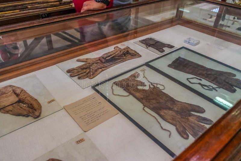 Museo nacional Expans de El Cairo dedicado a Egipto antiguo, a los Pharaohs, a las momias y a las pirámides egipcias fotos de archivo