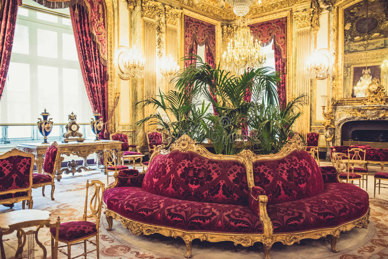 Museo Napoleon Apartments del Louvre fotos de archivo