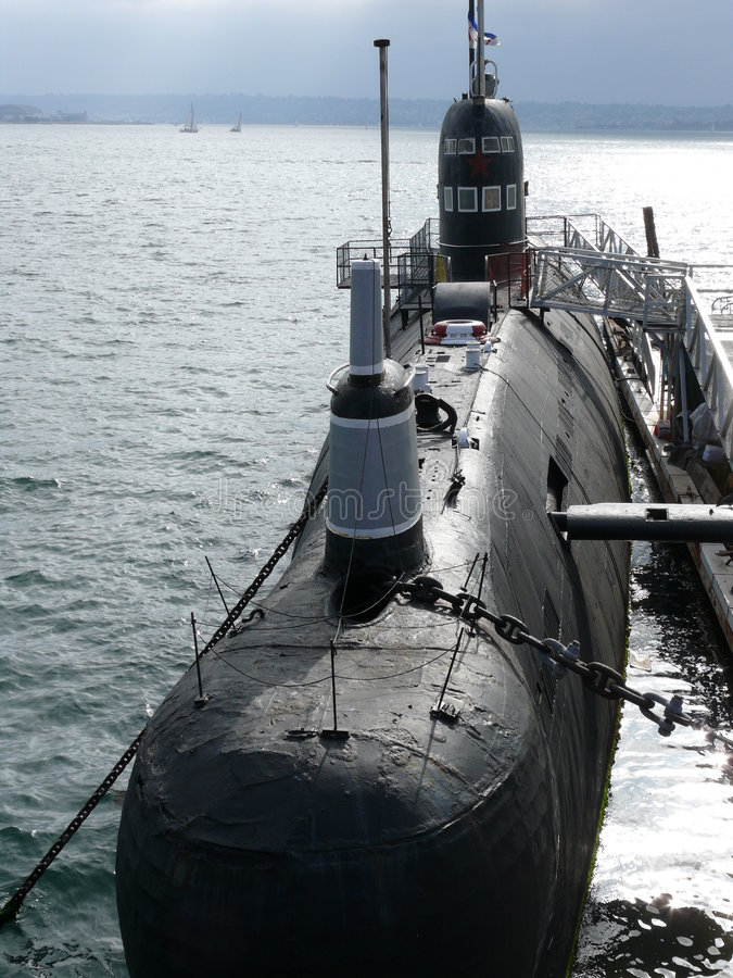 Museo navale sottomarino attraccato fotografie stock libere da diritti
