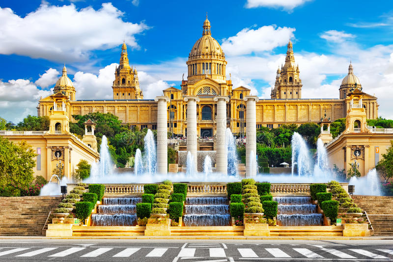 Museo Nazionale a Barcellona immagini stock