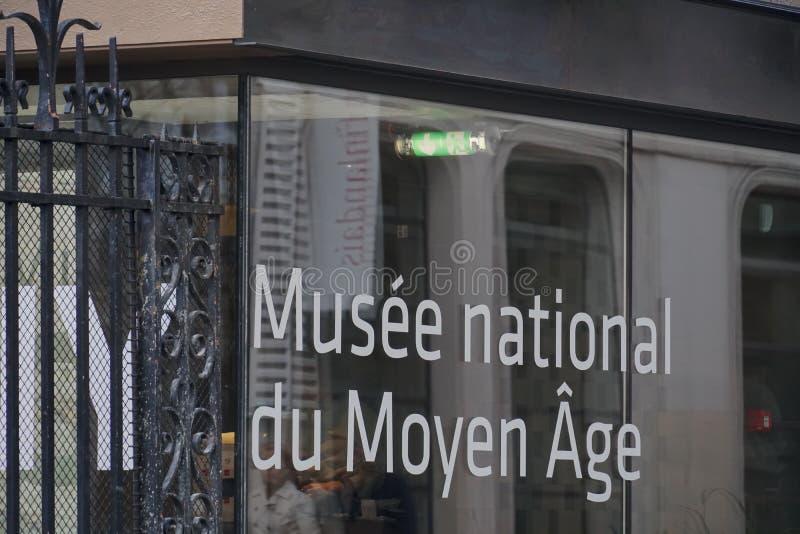 Museo nazionale dei medio evo immagini stock