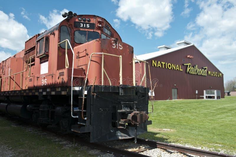 Museo nazionale della ferrovia, corsa al Green Bay, WI fotografia stock libera da diritti