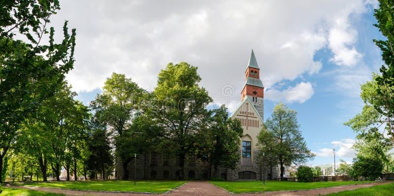 Museo nazionale della Finlandia nel paesaggio urbano di Helsinki immagini stock