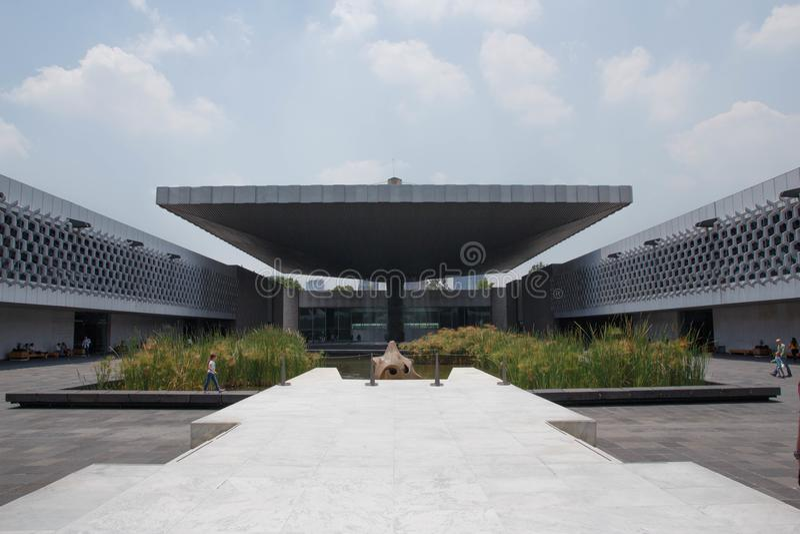 Museo nazionale della plaza di antropologia, Città del Messico immagine stock