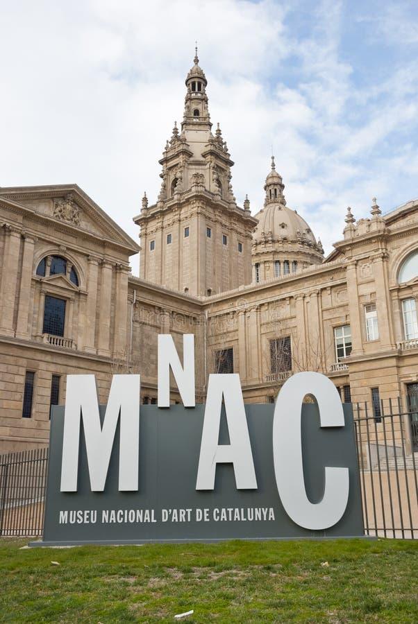Museo nazionale di arte, Barcellona fotografie stock libere da diritti