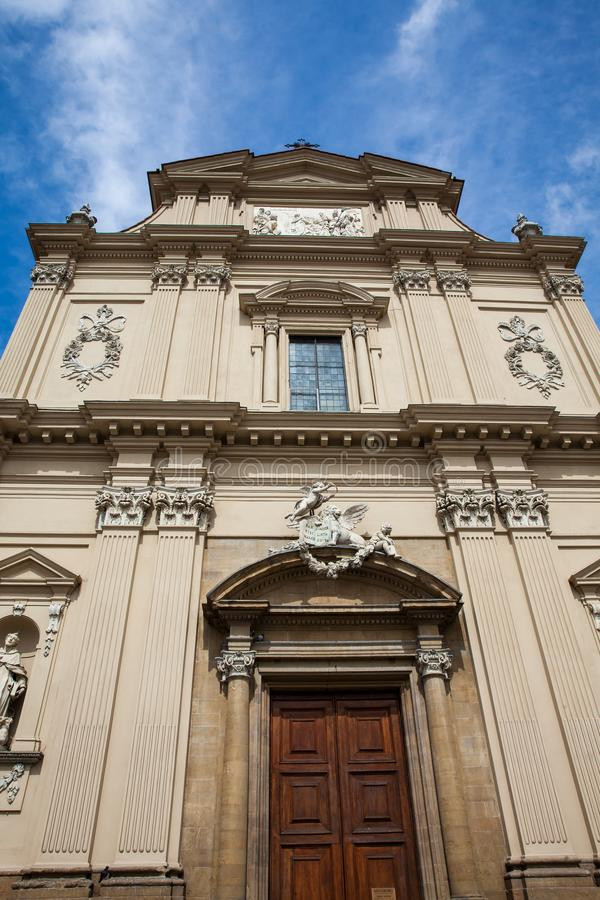 Museo nazionale di San Marco alloggiato nella sezione monumentale del convento di frati domenicano medievale dedicato a St Mark fotografia stock