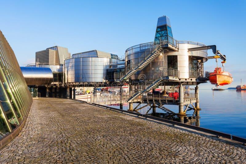 Museo norvegese del petrolio, Stavanger immagine stock libera da diritti