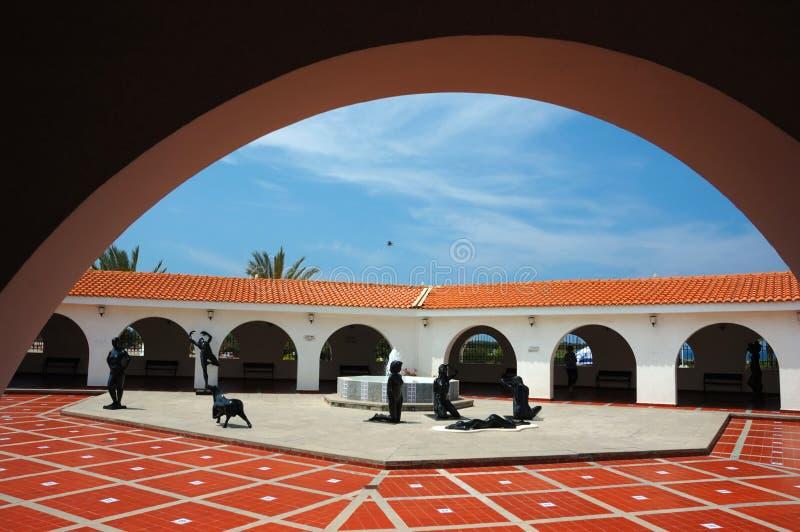 Museo para el Arte Clásico, Caesarea, Israel de Ralli foto de archivo