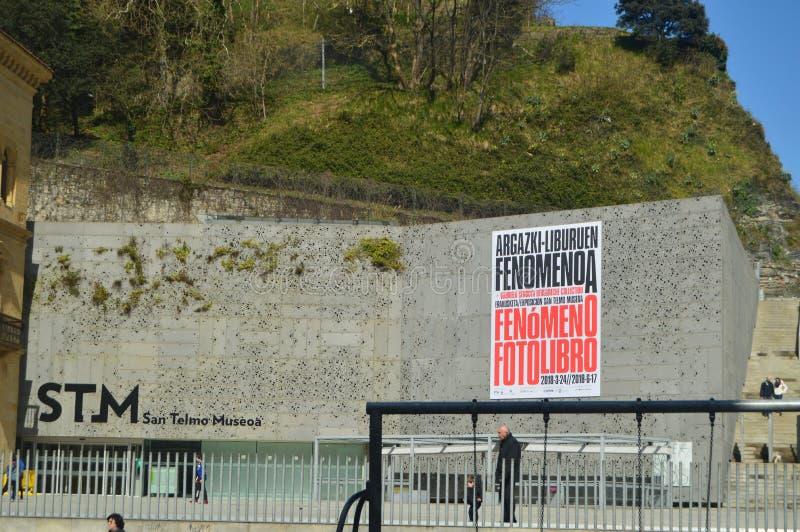 Museo pintoresco San Telmo STM en San Sebastián Naturaleza del viaje de la arquitectura imagen de archivo libre de regalías