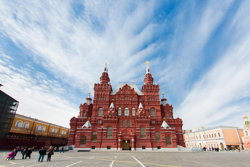 Museo storico dello stato sul quadrato rosso a Mosca, Russia fotografia stock