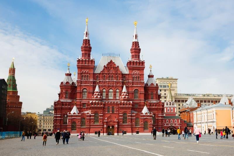 Museo storico dello stato sul quadrato rosso Mosca, Russia immagini stock