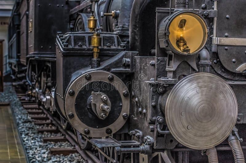 Museo tecnico di Praga, repubblica Ceca, retro locomotiva fotografie stock libere da diritti