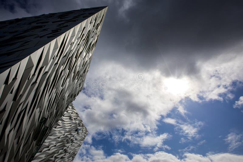 Museo titánico de Belfast fotografía de archivo libre de regalías