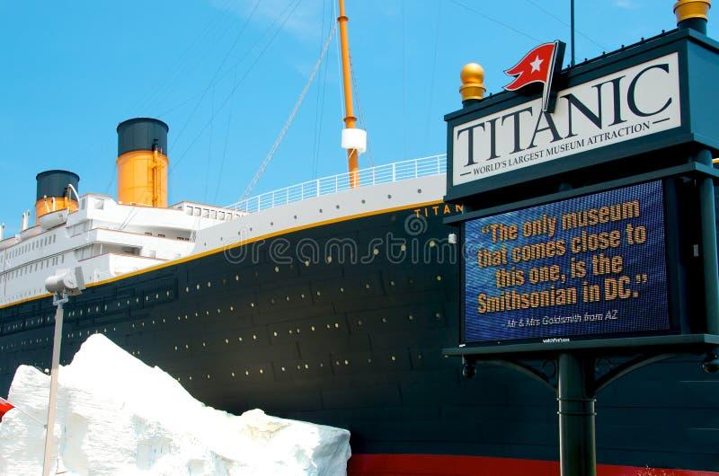 Museo titánico en Branson Missouri imagen de archivo libre de regalías