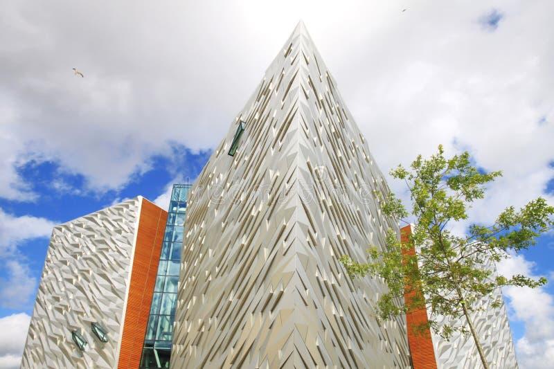 Museo titanico, Belfast fotografia stock