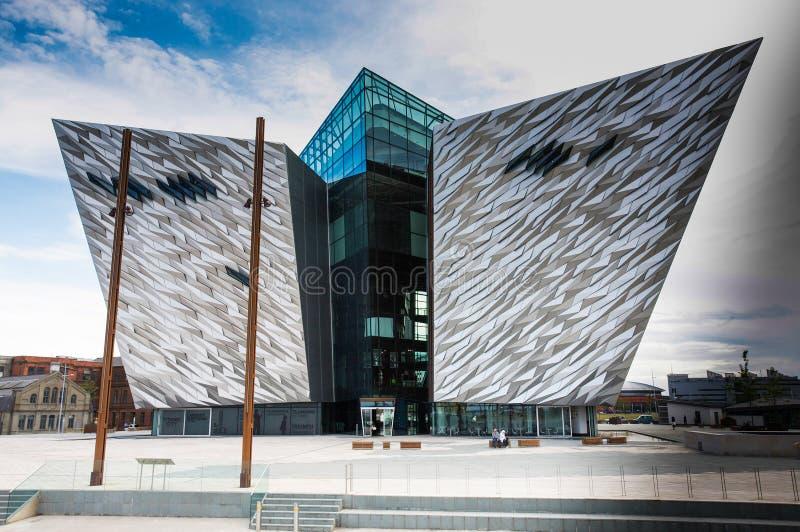 Museo titanico Belfast fotografia stock