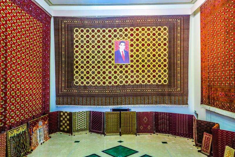 Museo turkmeno 02 del tappeto di Asgabat immagine stock libera da diritti