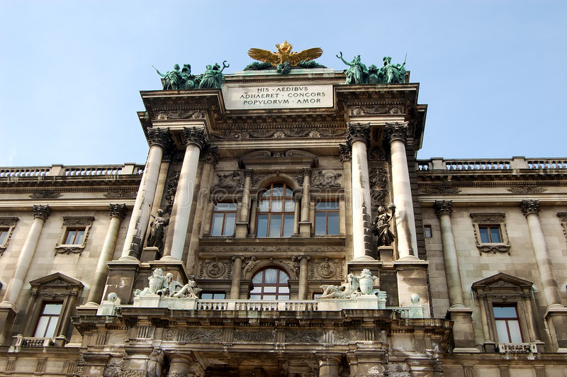 Museo Vienna di storia di arte immagini stock libere da diritti