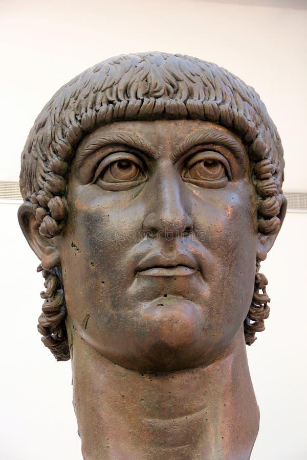 Museos de Capitoline de Roma: estatua de bronce de Constantina foto de archivo libre de regalías