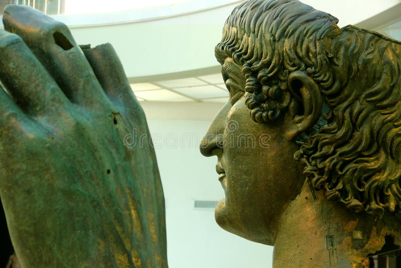 Museos de Capitoline de Roma: estatua de bronce de Constantina fotografía de archivo