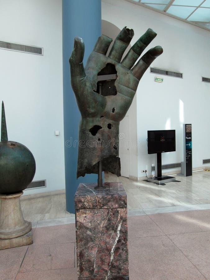 Museos de Capitoline, estatuas colosales Museums Plaza del Campidoglio Roma Europa imagen de archivo libre de regalías